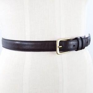 Vintage Coach Brown Leather Harness Belt